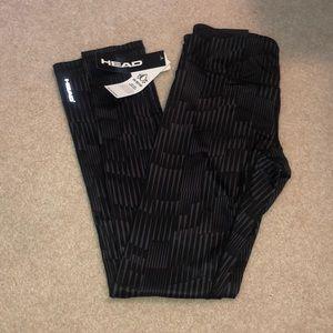 Black and grey patterned leggings